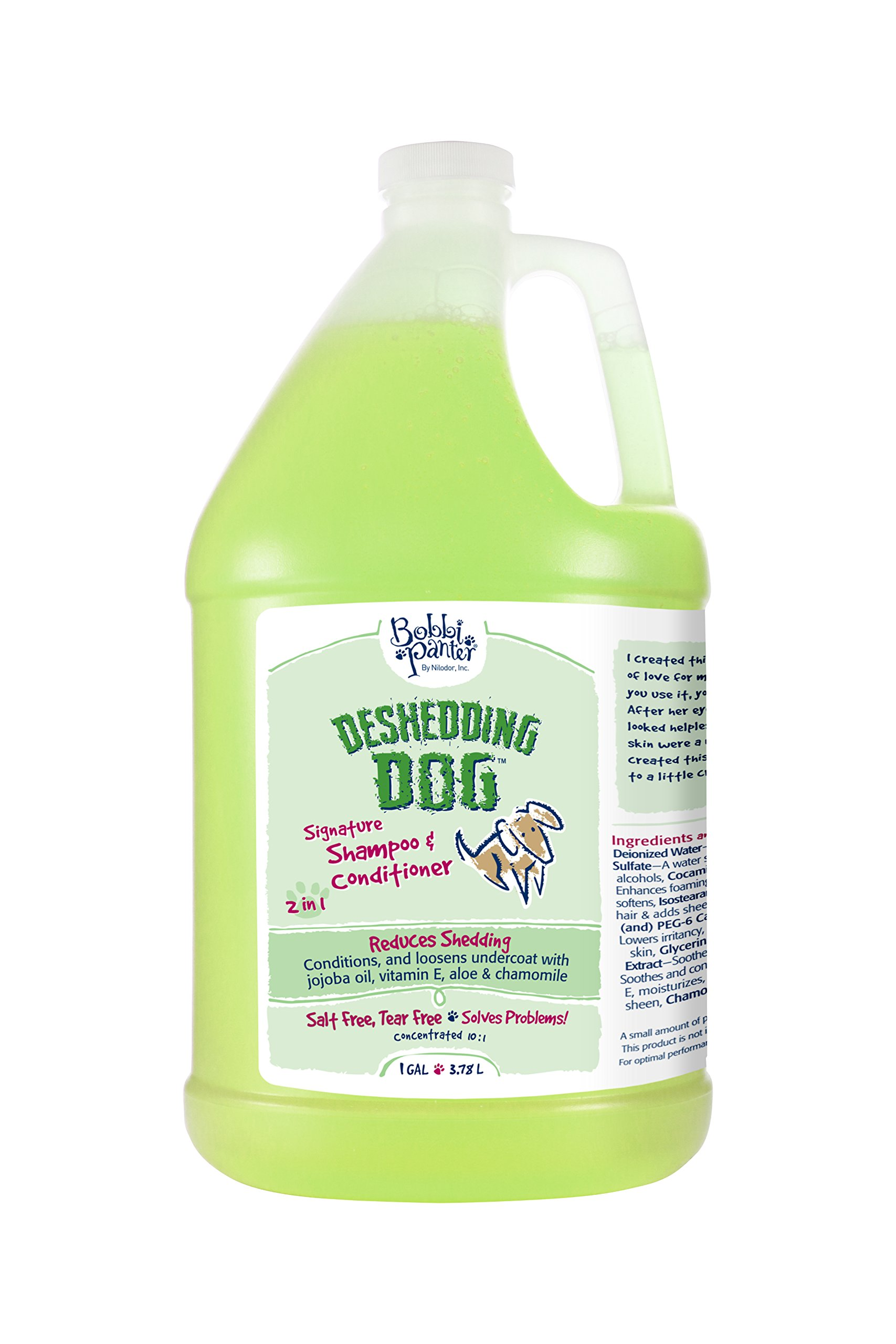 Deshedding Dog Pet Products Bad Hair Day Dog Shampoo, 1-Gallon