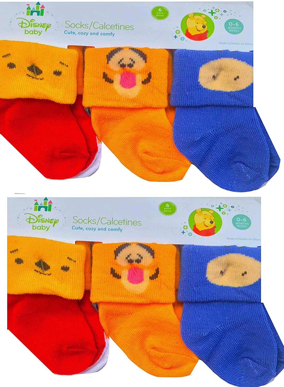 Amazon.com: Disney Baby Socks Cute Cozy & Comfy Mickey Mouse & friends W/Winnie The Pooh: Clothing