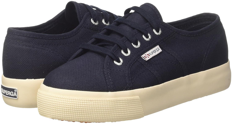 Superga Damen 2730-cotu Sneaker, 933) Bianco Blau (Navy 933) Sneaker, 14ed68