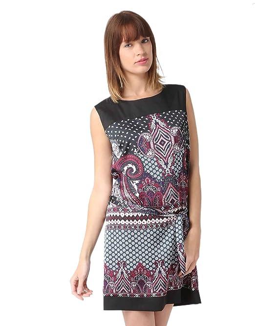 Miss Coquines-vestido recto con diseño de mujer de vestidos granate Large
