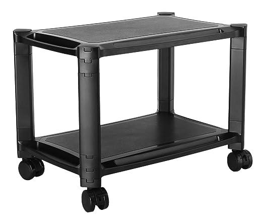 RICOO Multi-Almacenaje PC Soporte Impresora WM4-L Escritorio Pedestal Mesa 2 Niveles pies rodantes gabinete Ordenador portátil Tableta Altura ...