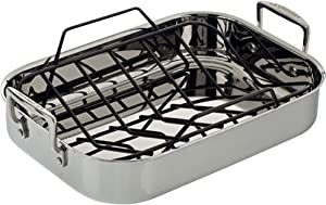 Le Creuset Stainless Steel Roasting Pan With Nonstick Rack, 14.5 by 10.75-Inch