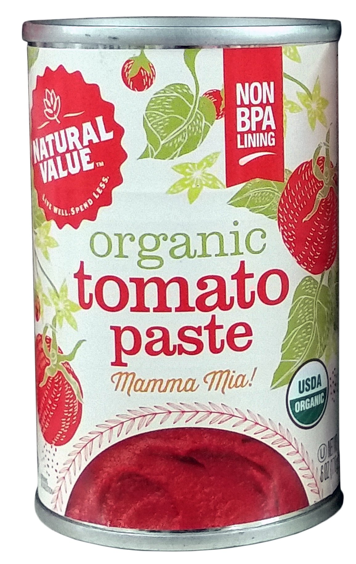 Natural Value Organic Tomato Paste, 6 Ounce (Pack of 24)