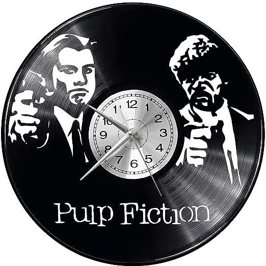 EVEVO Pulp Fiction Reloj de Vinilo con Pulpa de imitación, Reloj ...