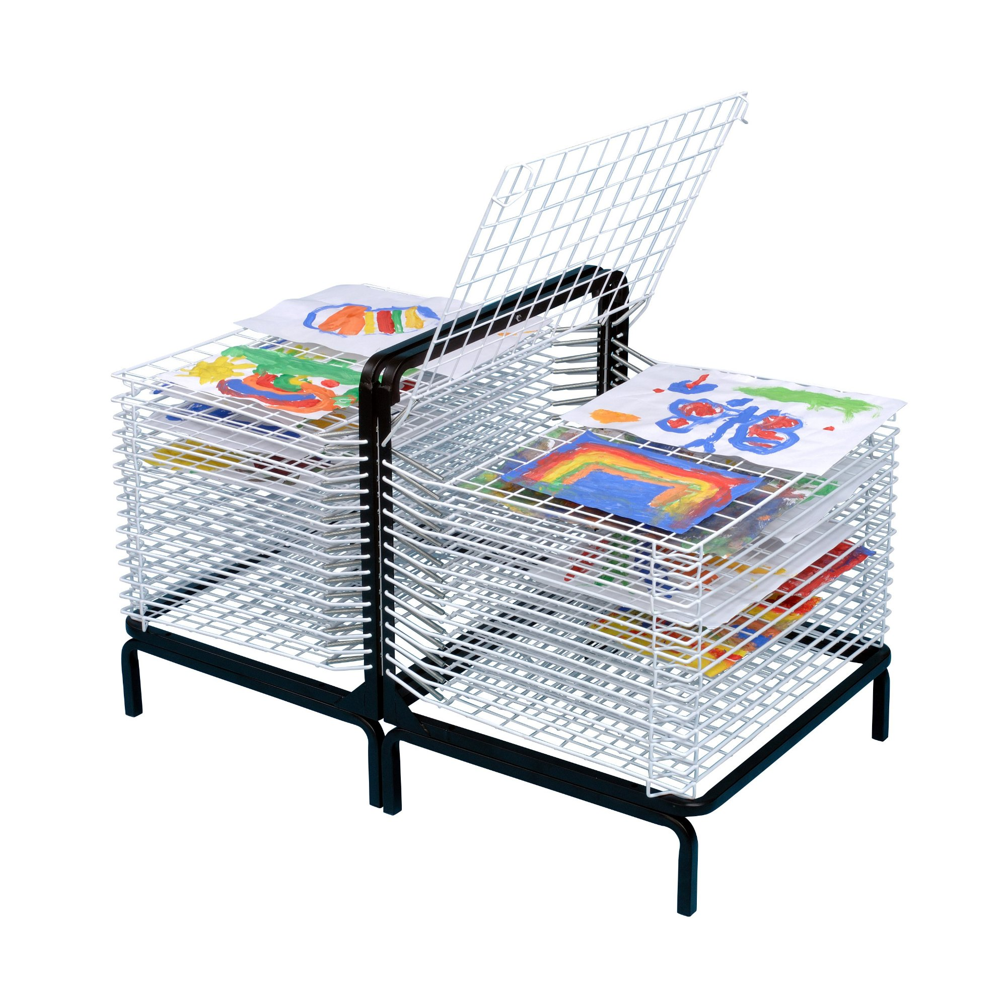 American Educational Products A-C1171 - 30 Shelf Spring Loaded Floor/Table Top Drying Rack