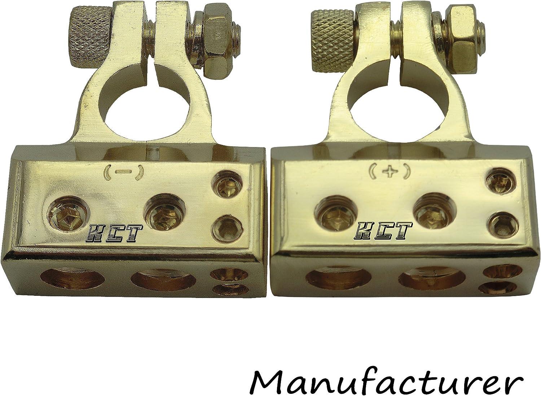 SoundBox 1//0 l 2 I 4 I 8 Gauge Digital Car Battery Terminal Positive//Negative