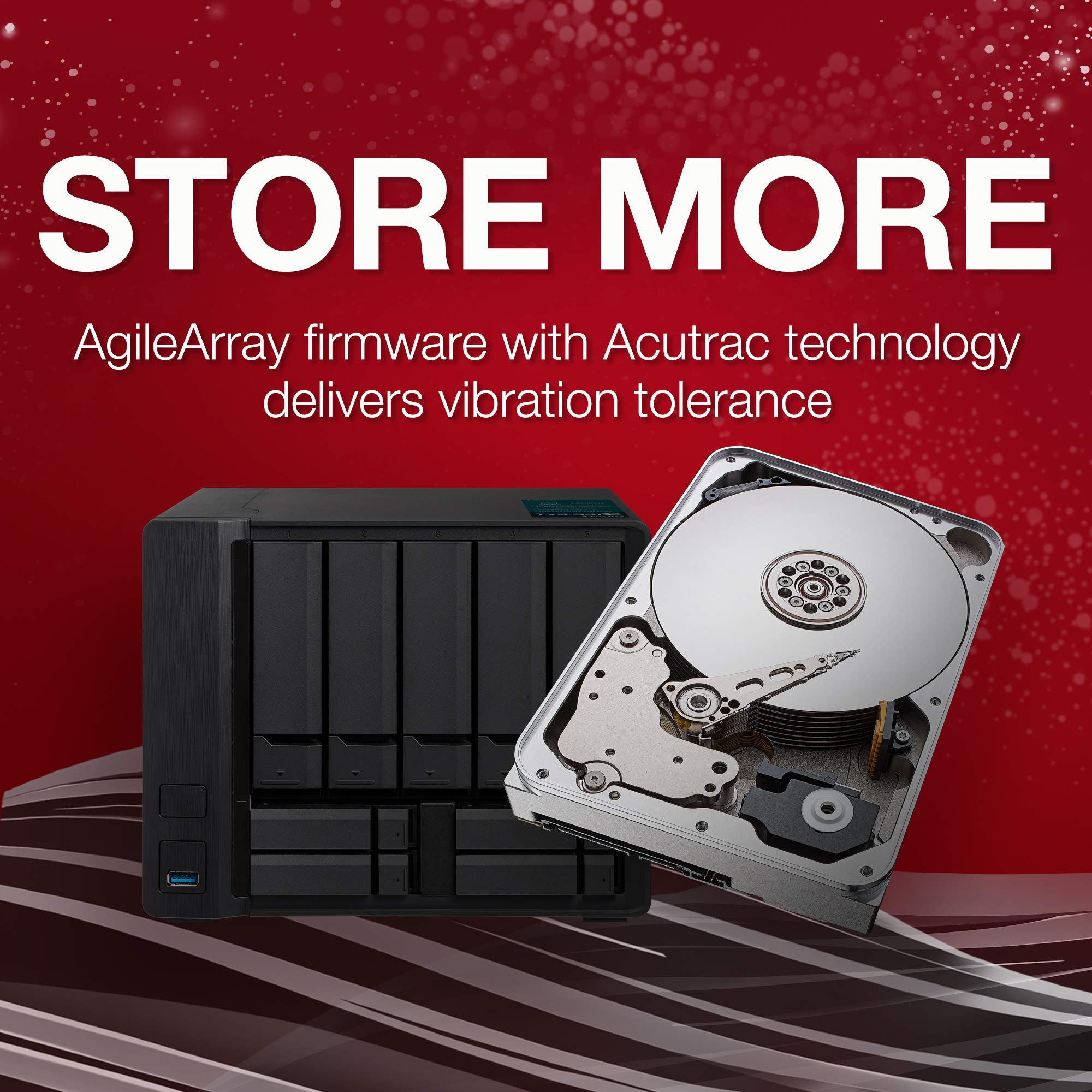 Seagate IronWolf 12TB NAS Internal Hard Drive HDD - 3.5 Inch SATA 6Gb/s 7200 RPM 256MB Cache for RAID Network Attached Storage (ST12000VN0007) by Seagate (Image #4)