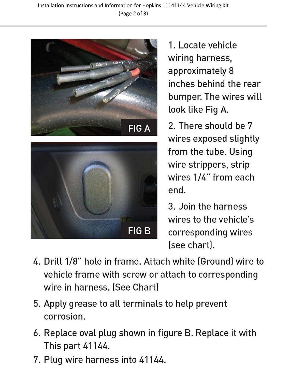 Amazon hopkins 41144 vehicle wiring kit automotive freerunsca Images