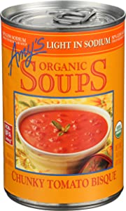 Amy's, Soup Tomato Chunky Bisque Low Sodium Organic, 14.5 Ounce