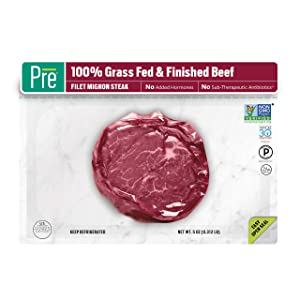 Pre, Filet Mignon Steak – 100% Grass-Fed, Grass- Finished, andPasture-Raised Beef – 5oz.