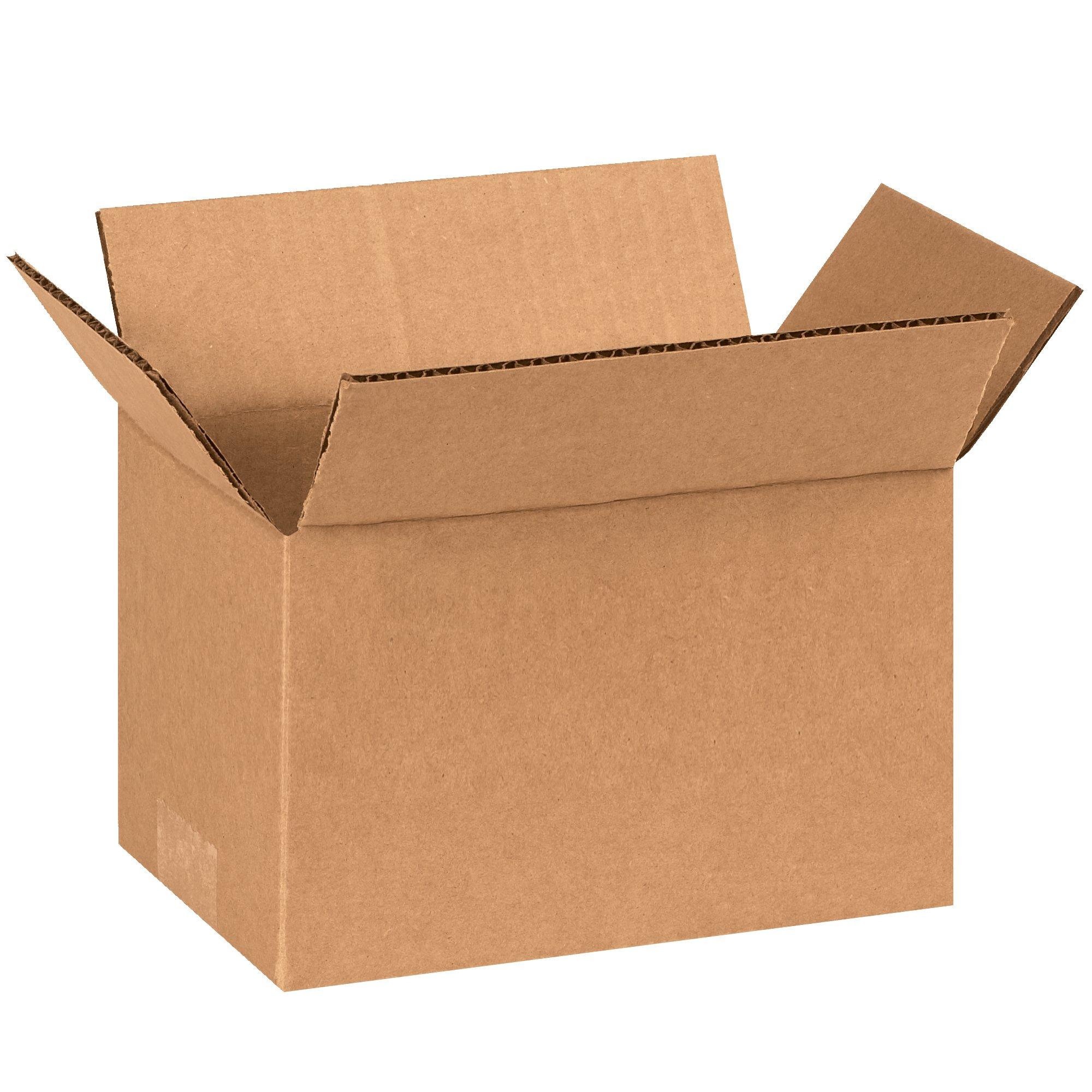 BOX USA B8542000PK Corrugated Boxes, 8''L x 5''W x 4''H, Kraft (Pack of 2000)