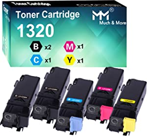 MM MUCH & MORE Compatible Toner Cartridge Replacement for Dell 1320C 310-9058 310-9060 310-9062 310-9064 High Yield to Used with Color Laser 1320c Printer (2 x Black, Cyan, Magenta, Yellow) 5-Pack