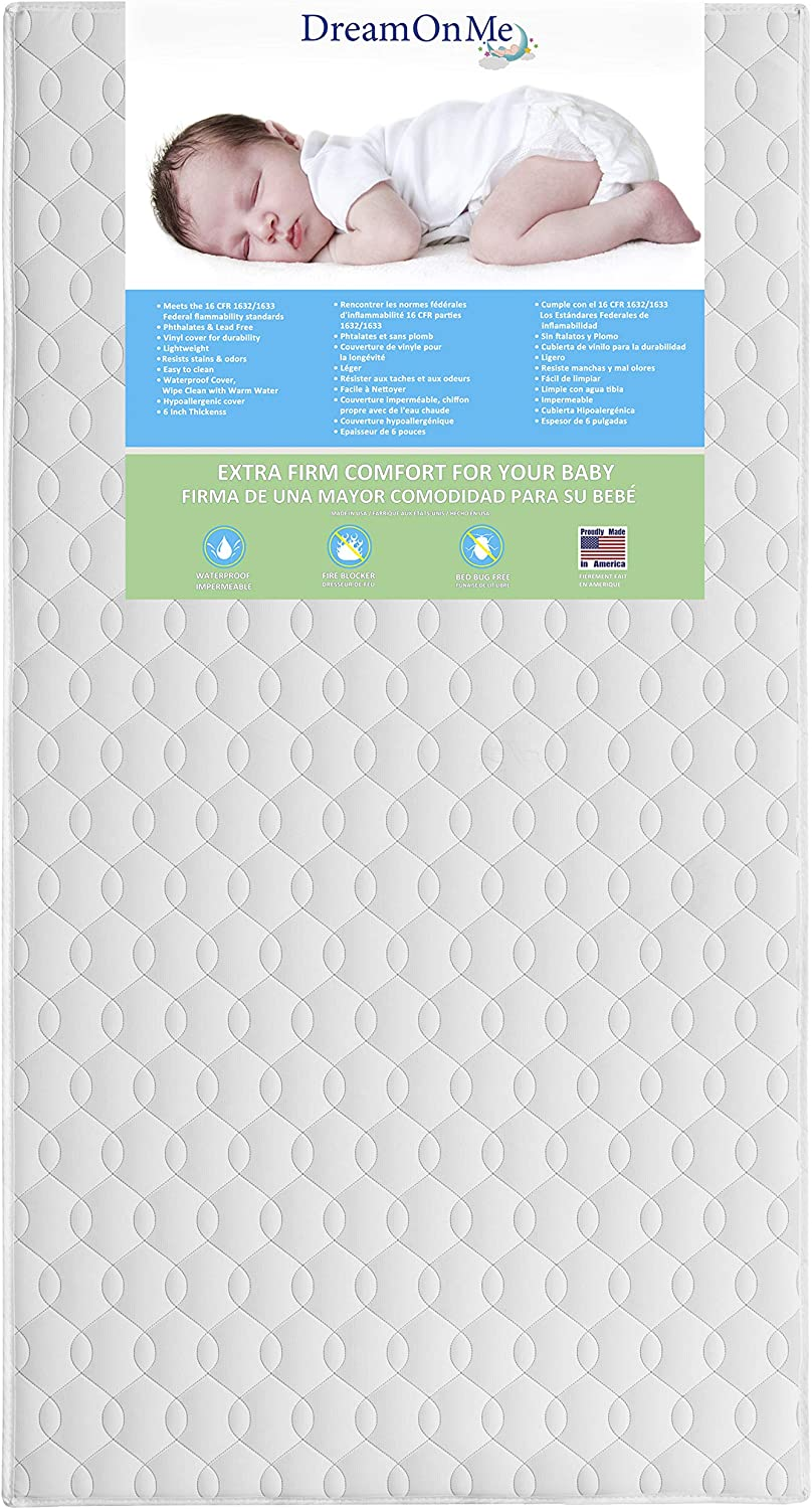 Foam Crib Toddler Bed Mattress Full Size 4 Inches for Standard Size Cribs New