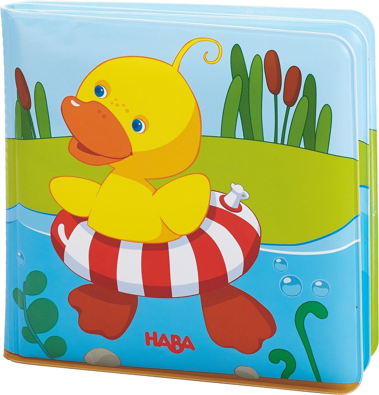 HABA 302633 Badebuch Schwimmente 2, Kleinkindspielzeug Lana Loutsa Bilderbuch Babybücher