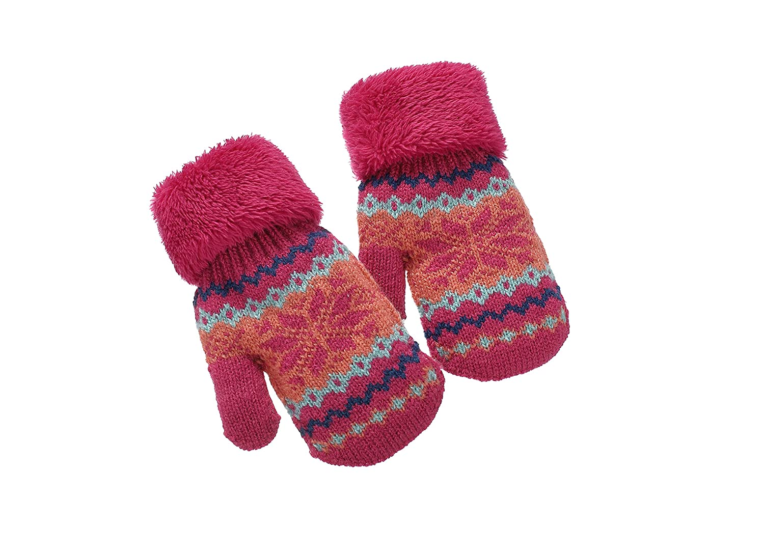 Toddler Baby Boy Girls Warm Winter Mittens With Fleece Lining Age 2345