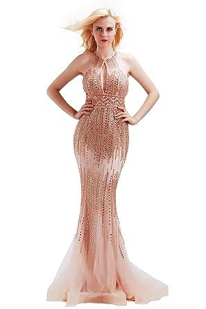 Amazon Finove Womens Evening Dresses Stunning Beading Sexy
