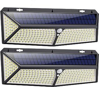 COB Solarleuchte 128 LED Wandleuchte mit Bewegungsmelder Garage Außenlampe Licht