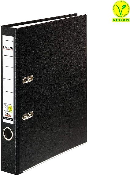 Ordner schmal 5cm schwarz PP-Kunststoffbezug mit auswechselbarem Rückenschild