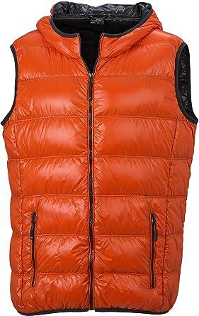 84bbd1bce8c Women's Opaque Hooded Sleeveless Gilet Orange dark-orange/carbon ...