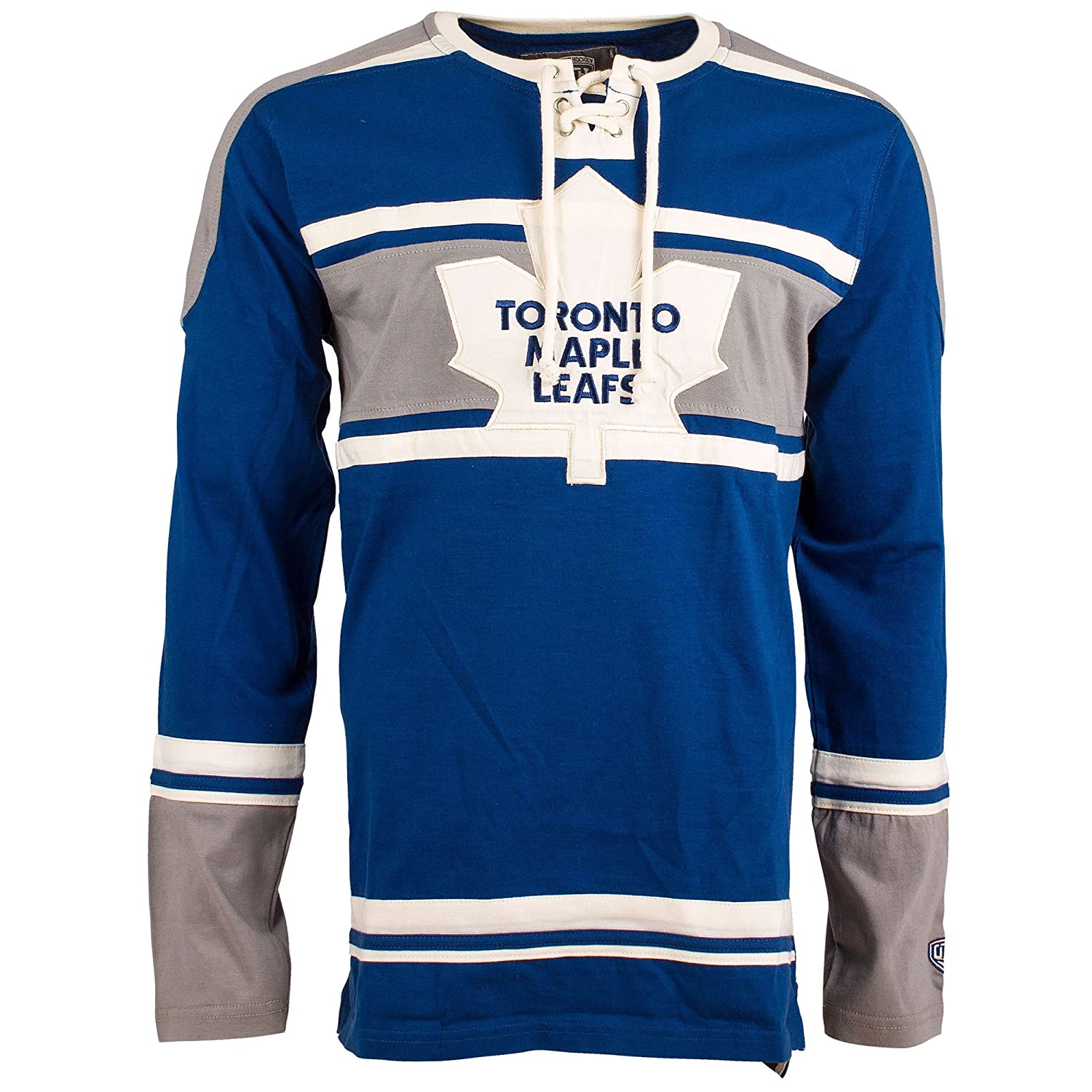 Toronto Maple Leafs Wisner Long Sleeve Jersey T-Shirt (L) Old Time Hockey
