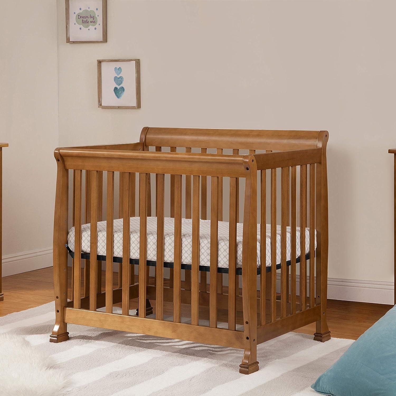 DaVinci Kalani 4-in-1 Convertible Mini Crib in Chestnut Greenguard Gold Certified