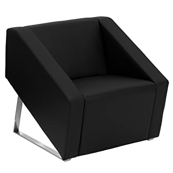 flash furniture hercules smart series black leather lounge chair - Leather Lounge Chair