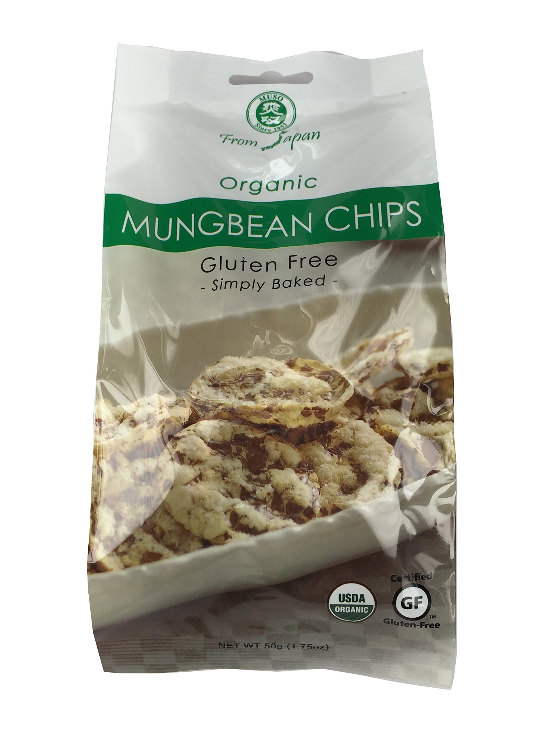 Muso From Japan Organic Chips, Gluten Free, Mung Bean, 1.75 Ounce (Pack of 20) by Muso From Japan