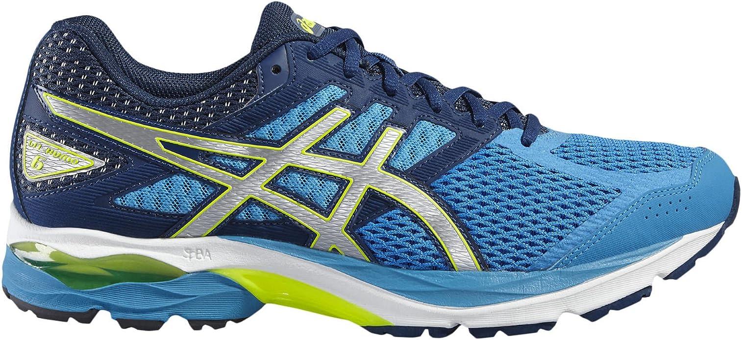 ASICS Hombre Zapatillas de Running Gel Kumo 6 Azul/Amarillo, Hombre, Azul: Amazon.es: Deportes y aire libre