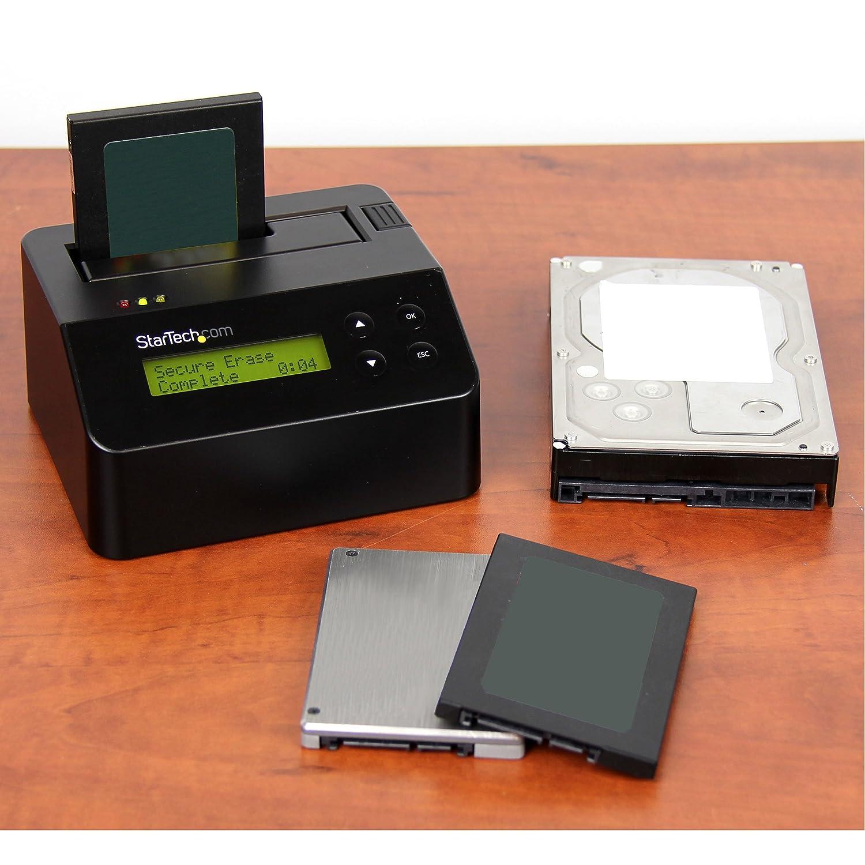 StarTech com Hard Drive Eraser – 2 5in / 3 5in SATA SSD/HDD – USB 3 0 –  Securely Erase Hard Drive – Stand Alone SATA Dock (SDOCK1EU3P)