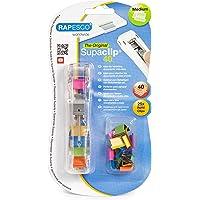 Rapesco Supaclip #40 Dispenser with 25 Multicoloured Refill Clips