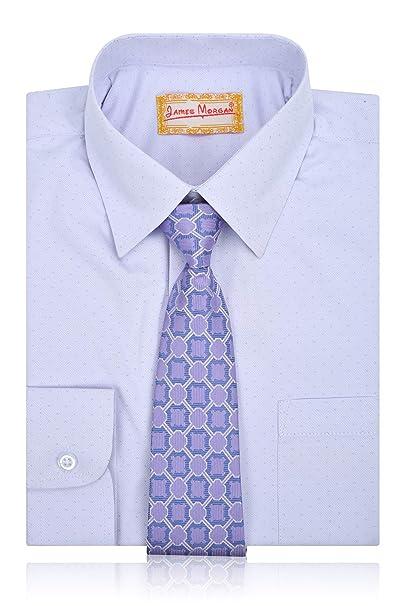 1317907ee1dcf6 Amazon.com: JAMES MORGAN Boys Polka Dot Dress Shirt with Tie - Sizes ...