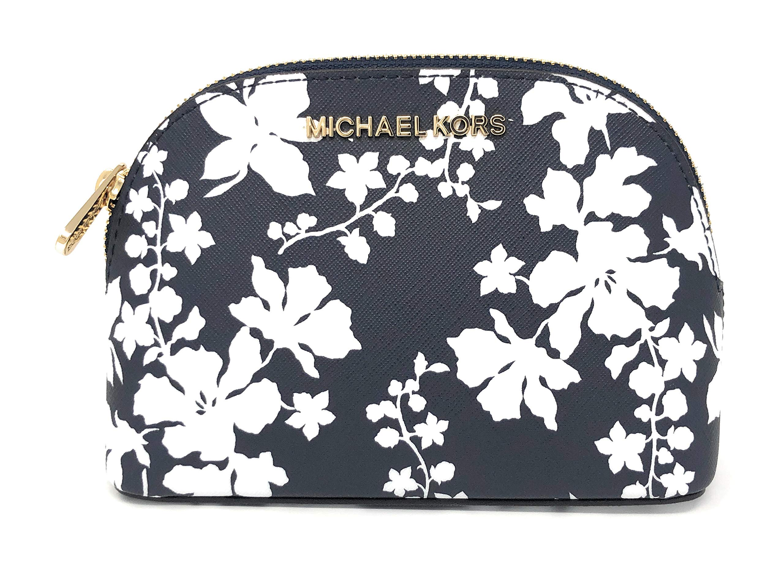 Michael Kors Jet Set Large Travel Pouch Cosmetic Case (Navy/White)