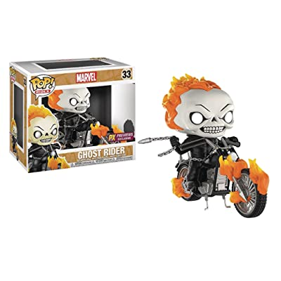 Funko Pop! Rides: Marvel Classic Ghost Rider with Bike Vinyl Figure: Toys & Games