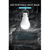 KK.BOL Lámpara Solar Portátil LED Bombilla Solar Panel Solar Recargable Solar Luces LED Lámpara de Luz de Emergencia Interior Exterior Senderismo Tienda Camping Luz de Trabajo Noche