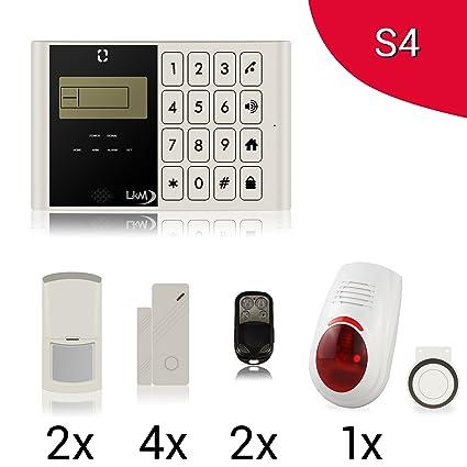 Kit antirrobo M2 C Alarma Casa inalámbrico gsm con 4 sensores, 2 sensores PIR con