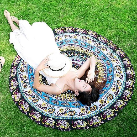 16 opinioni per Sunroyal® Asciugamano Teli da mare Decorative Wall Hanging letto rotondo foglio