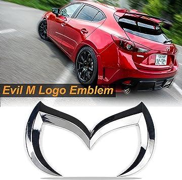 Evil M Emblem Logo Badge Decal for Mazda3 6 Mazdaspeed CX 3 5 MX-5 Miata Red