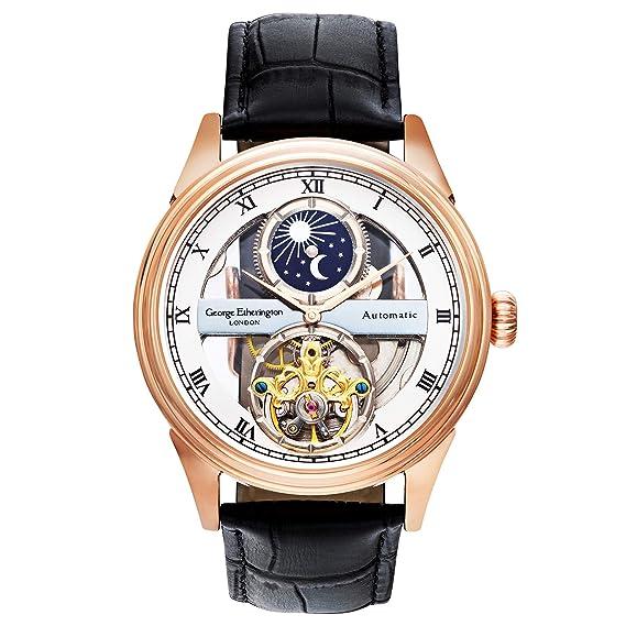 Original reloj calendario lunar y correa de cuero. Movimiento automático y diseño extraordinario.