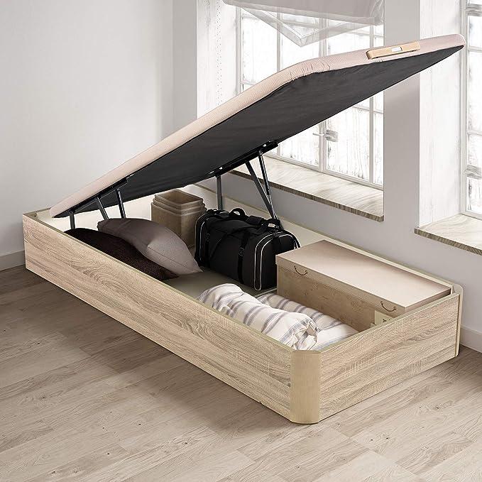 PIKOLIN, canapé abatible de almacenaje Color Natural 90x190, Servicio de Entrega Premium Incluido