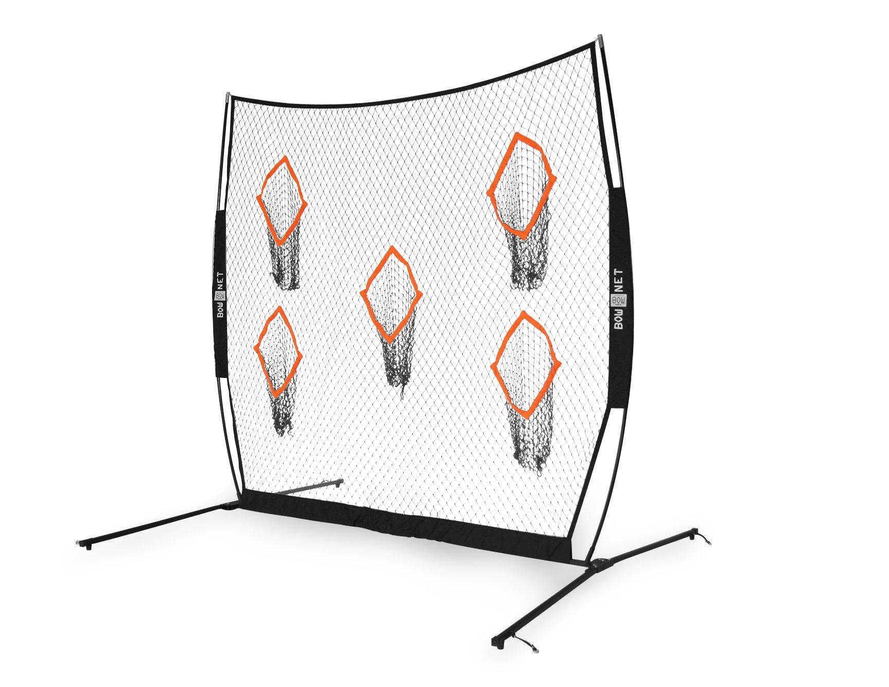 Bownet 8' x 8' Soccer Goal Target Net with 5 Scoring Zones - Soccer Pocket Targets Help Visualize Shots