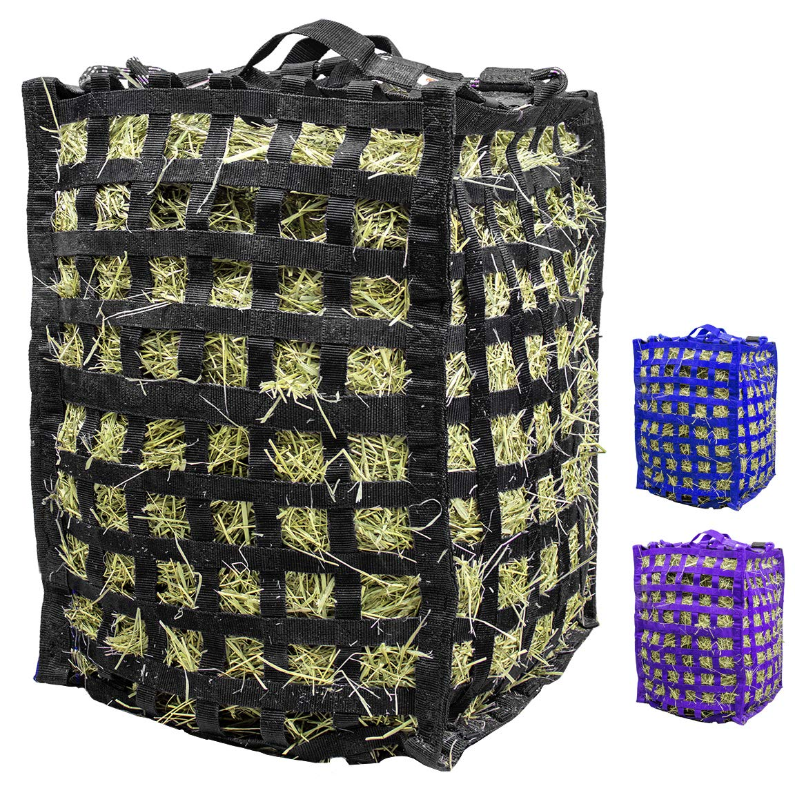 Derby Originals Natural Grazer Patented Four Sided Slow Feed Horse Hay Bag with One Year Warranty