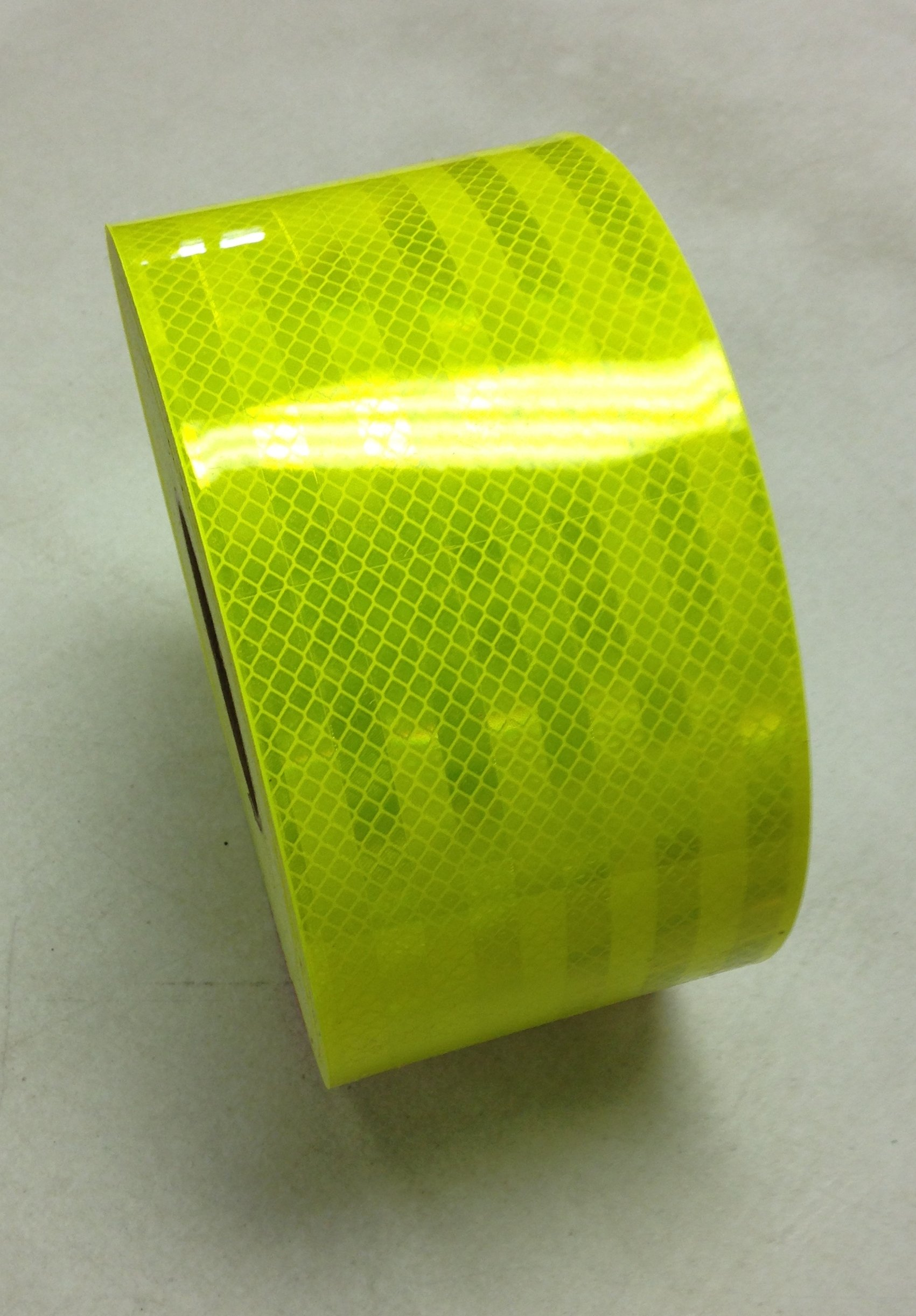 Safe Way Traction 4'' x 10' Roll 3M Fluorescent Yellow Green Reflective Hazard Warning Emergency Vehicle Safety Marking Tape 983-23