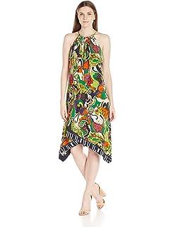 fd74ad3e8348f9 Trina Turk Women's Michalin Turkish Delight Matte Jersey Midi Dress