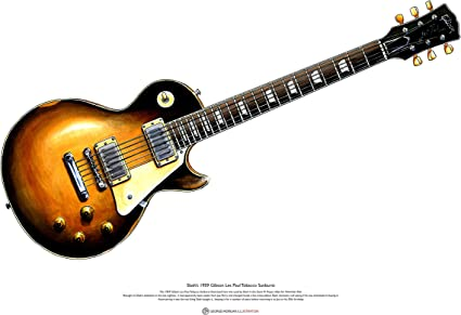 George Morgan Illustration Slash 1959 Gibson Les Paul Guitarra ...