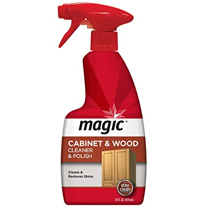 Magic Wood Cleaner And Polish   14 Fluid Ounce   Furniture Table Chairs Wood  Cabinets Clean