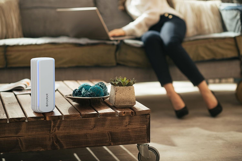 Foobot - Medidor de Calidad del Aire Interior - Monitor de Temperatura Ambiente Humedad VOC Formaldehído - Control Automático para Garantizar un Aire Fresco ...