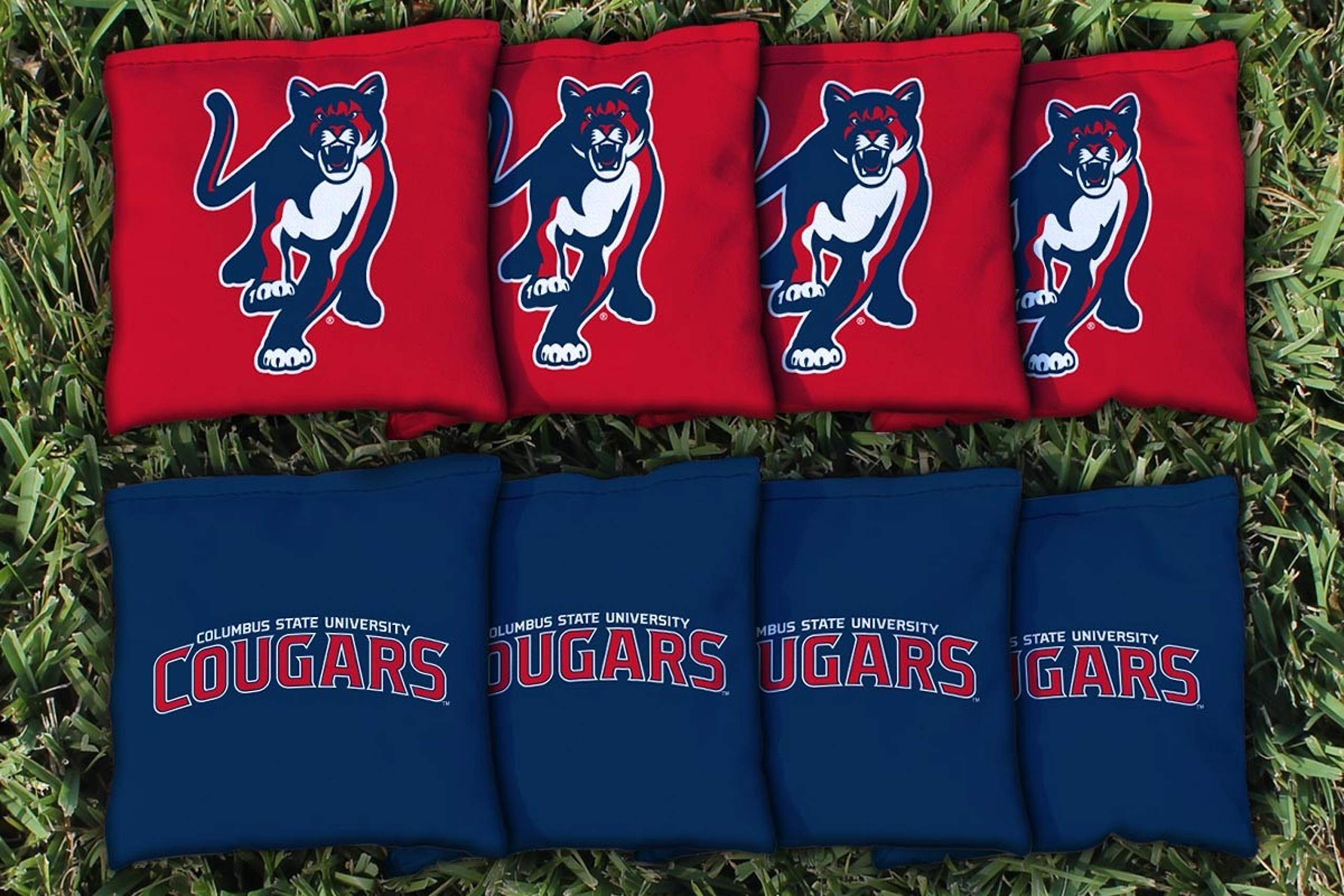 Victory Tailgate NCAA Collegiate Regulation Cornhole Game Bag Set (8 Bags Included, Corn-Filled) - Columbus State Cougars by Victory Tailgate