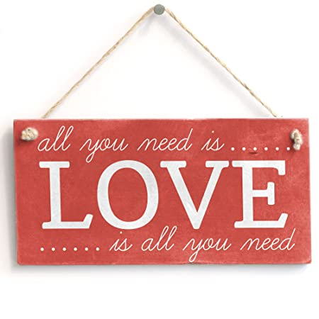 All You Need Is Love. Love Is All You Need - hecho a mano ...