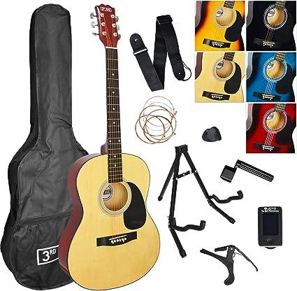 3rd Avenue Pack de guitarra acústica, Natural, Acústico, Pack ...