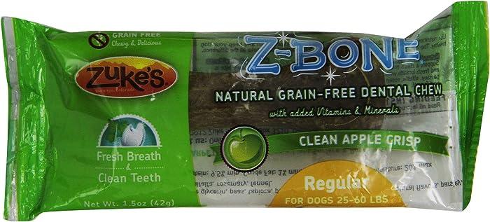 Zuke's ZBones Edible Dental Chews Regular Clean Apple Crisp (1.5 oz)